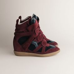 Isabel Marant Bekket Sneakers High-top Suede Red & Black