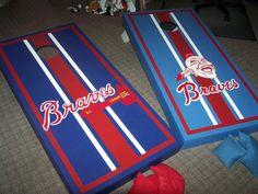 Atlanta Braves Cornhole Boards. $150.00, via Etsy.