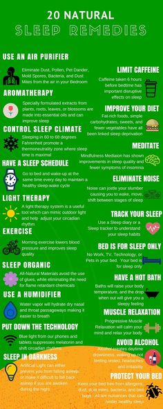 Shows natural remedies that will help you sleep. Type of sleep aids.
