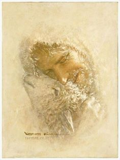 """spiritually powerful art """"This art work by Yongsung Kim is remarkable! I can see his faith transmitted onto canvas through his delicate brush strokes and selective views of Christ and His lif…"""