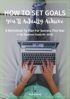 The Secret To Setting Goals You'll Actually Achieve: A free Worksheet To Plan For Success This Year | Goal Setting | Vision Board | Entrepreneur #gravitylifecoaching Saved by: Erin Dickson | Gravity Life Coaching | Soar to New Heights www.gravitylifecoaching.com/soar Business Goals, Business Tips, Online Business, Business Planning, Business Launch, Business Coaching, Goal Planning, Goal Setting Worksheet, Software