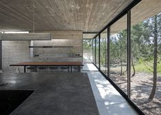 Designed by Luciano Kruk, House on Argentina's Costa Esmeralda is a concrete residence with a rooftop pool and contemporary, monolithic interiors. Concrete Interiors, Journal Du Design, Beachfront House, Concrete Houses, Rooftop Pool, Brutalist, Architect Design, Interior And Exterior, Interior Design