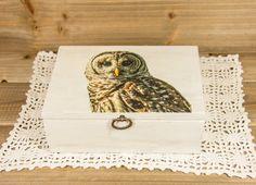 Sweet Barred Owl photo transferred onto farmhouse style | Etsy Barred Owl, Owl Photos, Photo Transfer, Amazing Decor, Garden Items, Household Items, Farmhouse Style, Masters, Glass Art