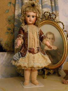 ~~~ French Embroidery Silk BeBe Costume with Bonnet ~~~ from whendreamscometrue on Ruby Lane