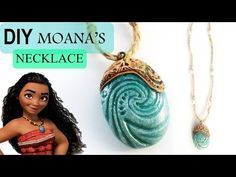 Set out to explore with this Moana Necklace craft! Your inner Moana will shine with this DIY necklace inspired by the newest film from Disney Animation Studi. Fimo Disney, Disney Diy, Disney Crafts, Polymer Clay Disney, Necklace Tutorial, Diy Necklace, Pendant Necklace, Moana Costume Diy, Moana Costumes