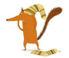Autumn Squirrels - Erica Salcedo Illustration potfolio