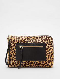 leopard clutch.