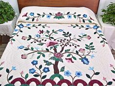 Tree of Life Quilt -- great cleverly made Amish Quilts from Lancaster (hs4587)