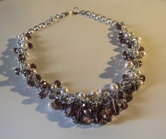 necklace mix of pearls and cristal