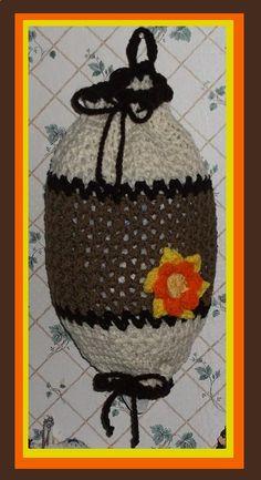 Flower Crochet Plastic Bag Holder / Dispenser ~ no pattern