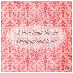 I Have Found the One Whom My Soul Loves  Song by ComeAndRestHere, $5.00