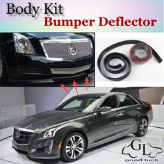Bumper Lip Deflector Lips For Cadillac CTS CTS-V 2002~2015 Front Spoiler Skirt For TopGear Fans Tuning / Body Kit / Strip #Affiliate