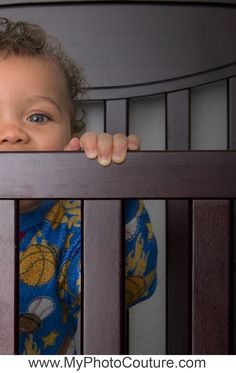 #baby #boy #standing #crib #9 #month #child #portrait #photography #pjs #cute @MyPhotoCouture