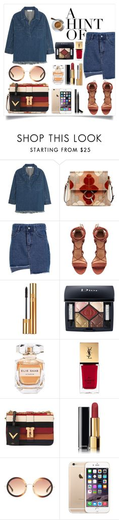 """""""No Limit"""" by tamaramanhardt ❤ liked on Polyvore featuring Chloé, Yves Saint Laurent, Christian Dior, Elie Saab, Valentino, Chanel, The Row and Gucci"""