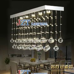 142.56$  Watch now - http://aligw5.worldwells.pw/go.php?t=1000001523151 - M Luxury Modern Rectangular Crystal Pendant Lamp With Hollow Stainless Steel Lampshade Cristal Pendent Droplight Lamp For Foyer