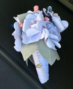 Metallic paper gardenia bouquet