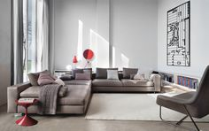 Download the catalogue and request prices of Scott 1235 By zanotta, sectional sofa design Ludovica+Roberto Palomba, scott Collection