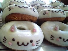 Bahahaha!! I like the idea of pusheen cats! But these faces on sugar cookies :-)