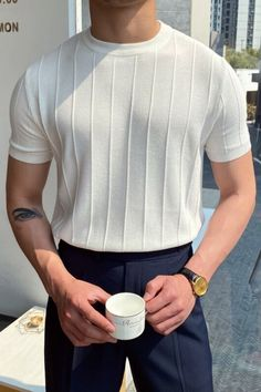 Mens Casual Dress Outfits, Stylish Mens Outfits, Summer Outfits Men, Casual Shirts, Suit Fashion, Mens Fashion, Fashion Outfits, Fashion Trends, Mode Streetwear