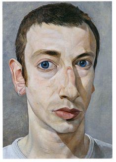 Self-portrait by James Hague (UK: 1970) - BP Portrait Award WINNER 1996