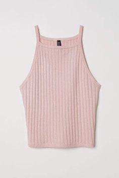 df084e068027f0 H M Ribbed Tank Top - Pink Pink Ladies