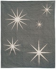starburst Quilt, gorgeous, reminds me of Birch Fabrics Birdie Spokes grey with out the circles and birds