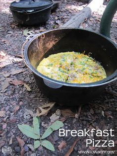Dutch oven breakfast pizza recipe from the iowa dnr food Camping Meals, Camping Hacks, Kids Meals, Camping Packing, Camping Guide, Tent Camping, Camping Jokes, Camping Style, Beach Camping