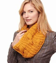 Warm up with this cozy cable and ribbed cowl!