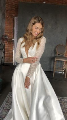 long sleeve lace wedding gown Luce Sposa wedding dress - the Greece Campaign Top Wedding Dresses, Wedding Dress Trends, Wedding Dress Sleeves, Long Sleeve Wedding, Bridal Dresses, Wedding Gowns, Dresses With Sleeves, Lace Wedding, Dress Lace