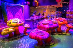 Wonka Candy Store.  Check out the bins of candy in the mushrooms.