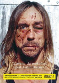 Amnesty International - La torture vous fait dire n'importe quoi - Iggy Pop