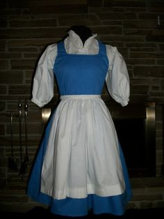 Custom made Belle Peasant Dress with apron from Disney's Beauty and The Beast on Etsy, $175.00 I want!!