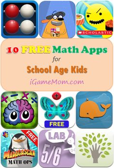 10 free math apps for school age kids #ipaded #edapps #math