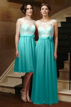 """""""Light Ivory"""" Lace and """"Tiffany"""" (Blue) chiffon,Ruched,Sweetheart Style 4208 Bridesmaid Dress by Alexia Designs"""