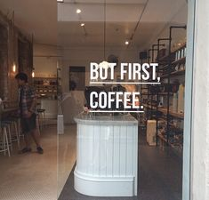 But first #coffee! Nice idea #design #interior #cafè