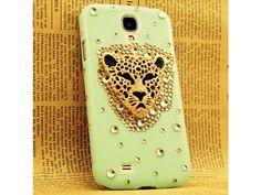 3D Leopard Rhinestone Samsung Galaxy S4 Case