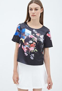 Photo Rose Print Top | FOREVER21 - 2055878551