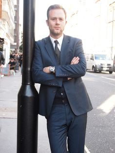 man in suit on the street