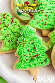 This sugar cookie frosting is light, creamy, and has the perfect amount of sweetness! Make this recipe for your Christmas cookie decorating. Cookie Frosting Recipe, Sugar Cookie Frosting, Icing Recipe, Sugar Cookies Recipe, Frosting Recipes, Christmas Cooking, Christmas Desserts, Christmas Treats, Holiday Foods