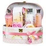 Pink Peony Spa Bath Gift Set in Mirrored Jewelry Box - http://tonysgifts.net/2015/02/21/pink-peony-spa-bath-gift-set-in-mirrored-jewelry-box/