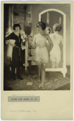 [Woman in undergarments, ca. 1922.]