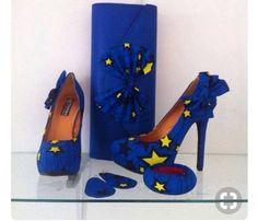 African style shoes and assessors