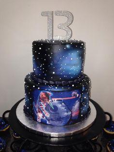 Galaxy Cat Cake - Cake by Melanie Mangrum