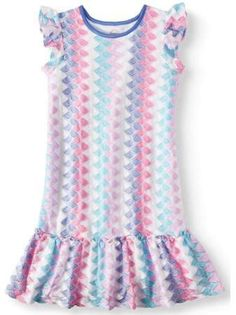 10b4ee14fe97 Wonder Nation - Knit Lace Peplum Hem Dress (Little Girls
