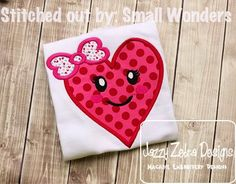 Heart Girl Applique Design: Jazzy Zebra Designs