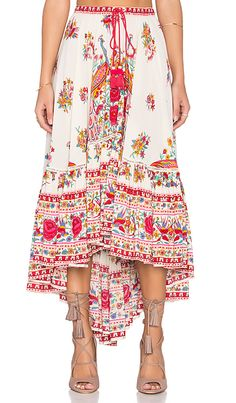 Spell & The Gypsy Collective Hotel Paradiso Castaway Skirt in Pearl | REVOLVE