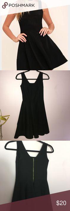 Black Skater Dress WORN ONCE!! Black skater dress from lulus, great condition, super cute! Lulu's Dresses