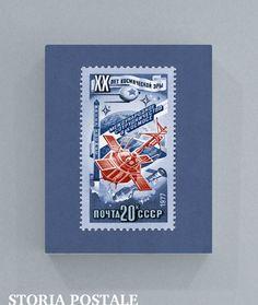 Russian Satellite Vintage Postal Stamp Art 8x10 by StoriaPostale, $9.00