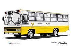 Empresa de Ônibus Viação São José Ltda. Mercedes Benz, Bus Terminal, Bus Stop, Retro, Auto Mechanic, Space And Astronomy, Wheels, Cushion Pillow, Nice