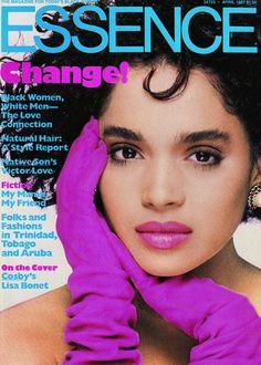 Still love 1980s Lisa Bonet. Essence, April 1987.